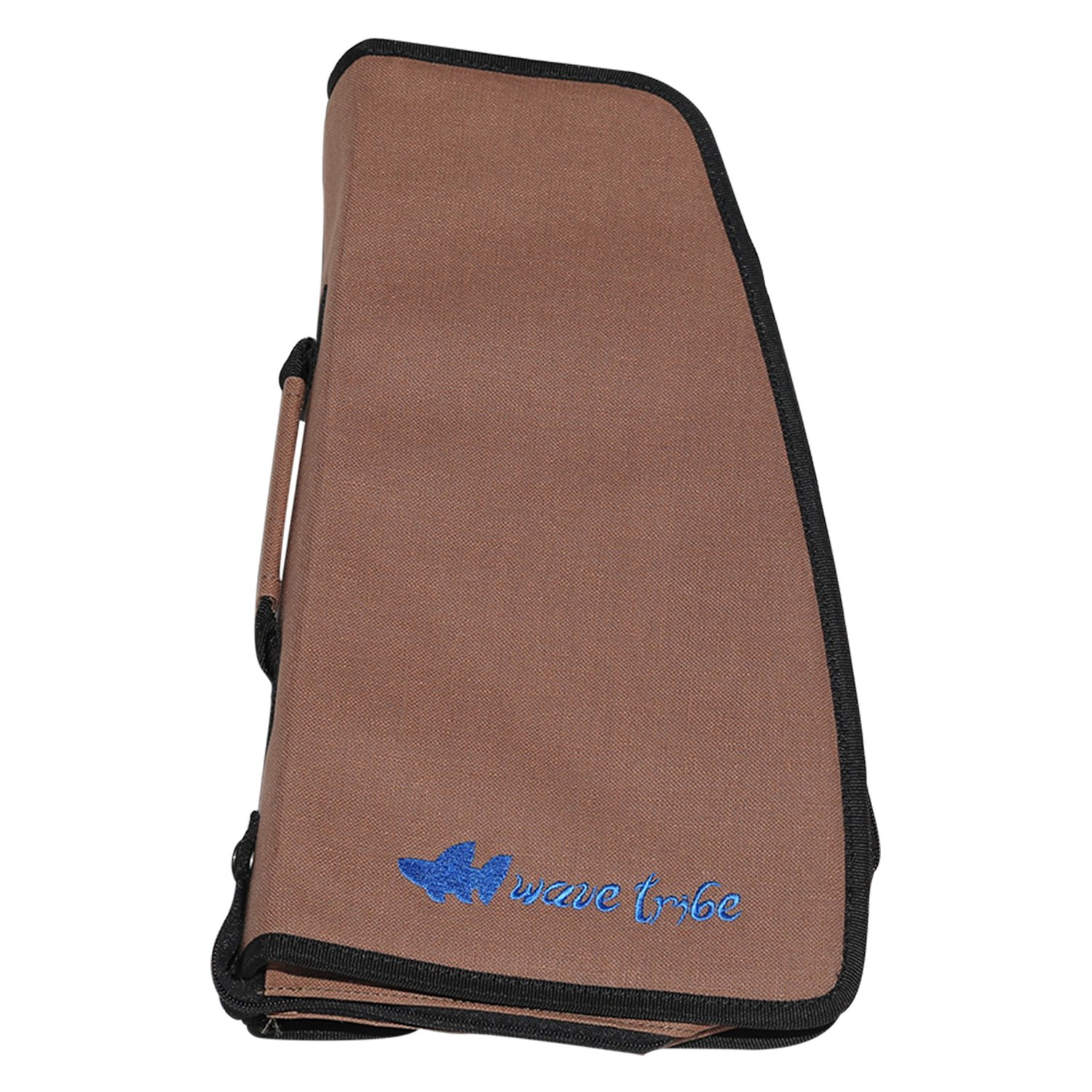 Surfboard Fin Wallet - Always Have Your Best Fins with You - Awesome Hemp Fin Holder & Organizer (Brown, Fits Shortboard & Longboard Fins)