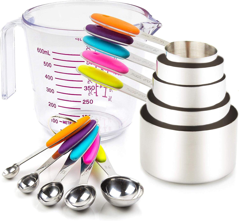 Measuring Cup /& Spoon Stainless Steel Set