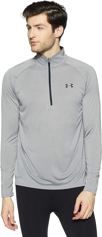 Under Armour UA Tech 1//2 Zip 2.0 T T-Shirt /à Manches Longues Homme