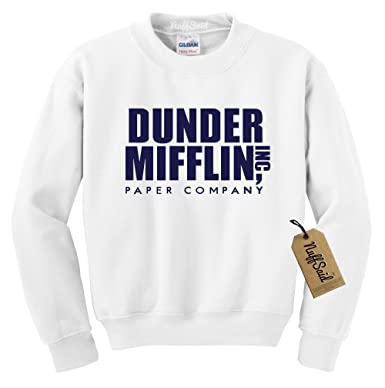 c995518c50e49e NuffSaid Dunder Mifflin Crewneck Sweatshirt - Sweater - Premium Quality TV Shirt  Sweatshirt (Small,