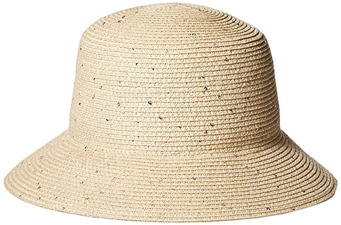 46ee4ffe58a88 Amazon.com  Orchid Row s Sparkle Straw Bucket Hat with Sequins ...