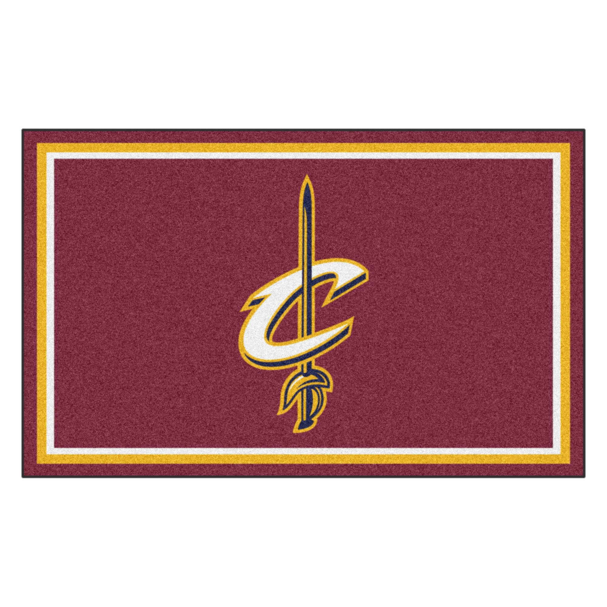FANMATS 20423 NBA - Cleveland Cavaliers 4'X6' Rug, Team Color, 44''x71'' by Fanmats