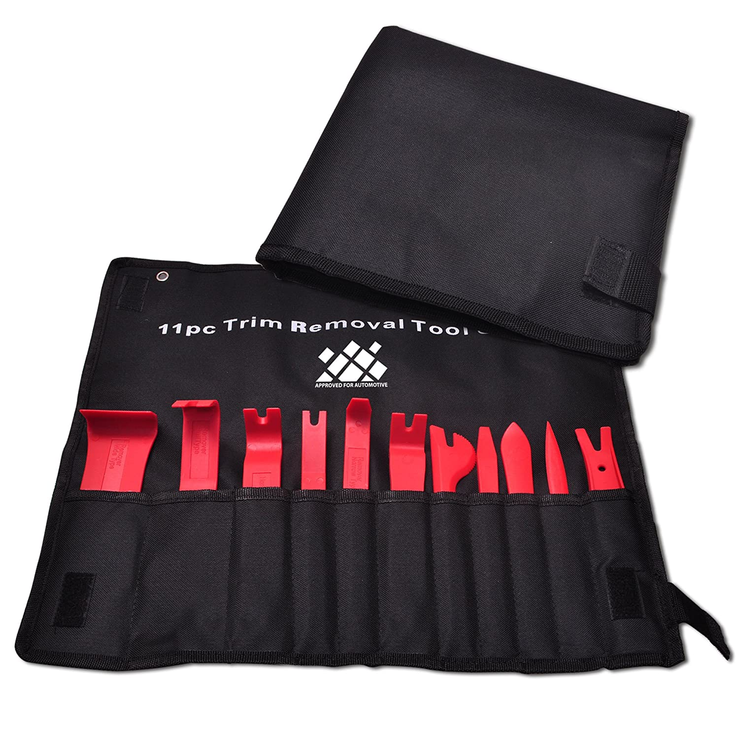 AFA Tooling Panel Removal Tool 11 pcs - Premium Auto Trim Upholstery Removal Kit - Easiest to Use Fastener Remover for Door Trim Molding Dash Panel