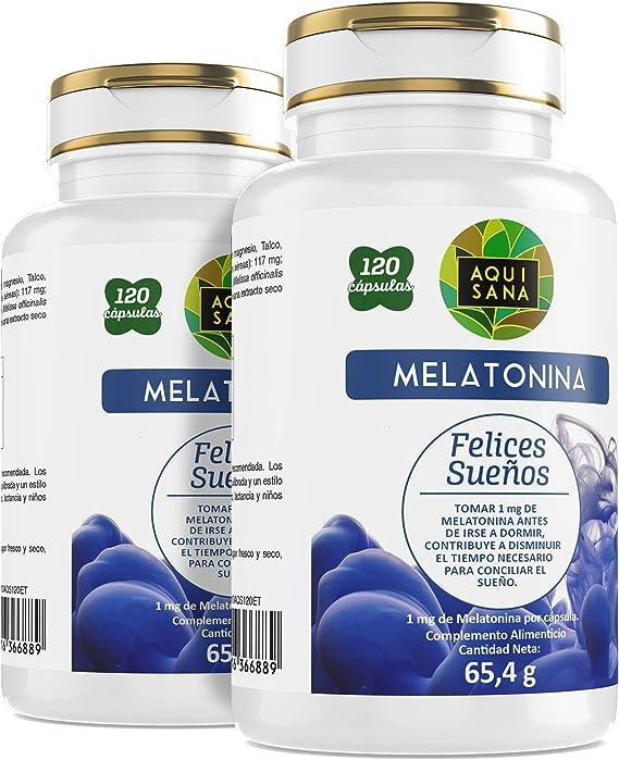 AquiSana, Melatonina, Valeriana y Tila, Antioxidante Natural, 240 ...