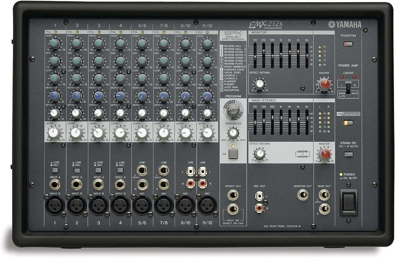 Yamaha Musical Instruments EMX212S Mesa de mezcla autoamplificada ...