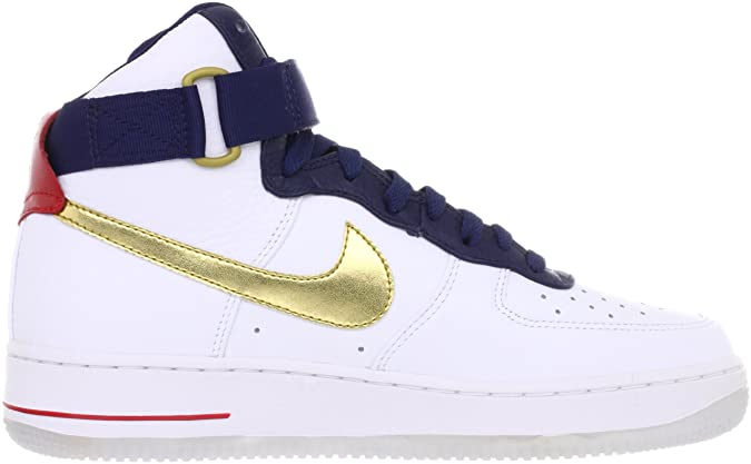 new style 8bfd1 b121b Amazon.com   NIKE Air Force 1 HI 07 Premium USA Basketball Olympic Mens  Shoes AF1 525317-100  US size 10    Shoes