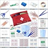 Oumers First Aid Medical Kit, All Purpose Emergency Survival Kit for Home Car Backpack Hiking Traveling Fishing