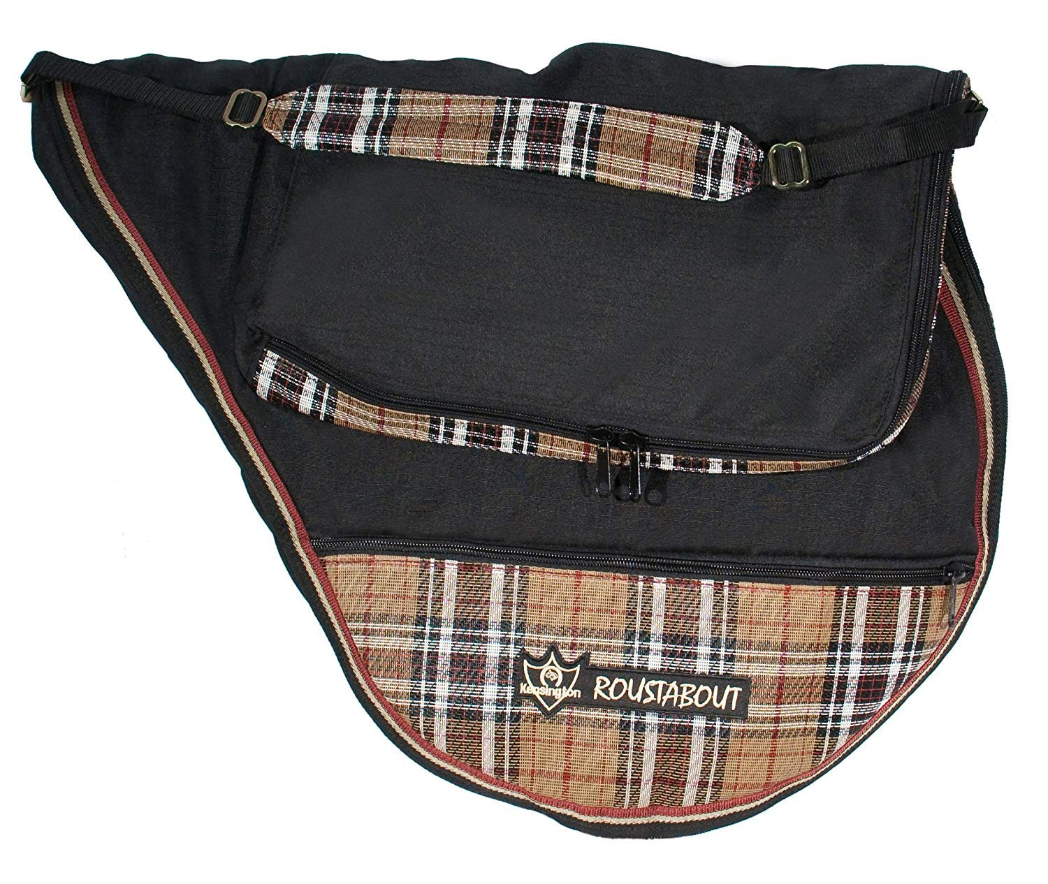 Kensington All Purpose Saddle Carrying Bag - Waterproof Outer Shell - Features Top Pad Storage Compartment - Padded Shoulder Pad for Carrying Comfort by Kensington Protective Products