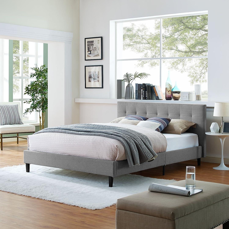 Modway MOD-5422-LGR Linnea Twin Bed Light Gray
