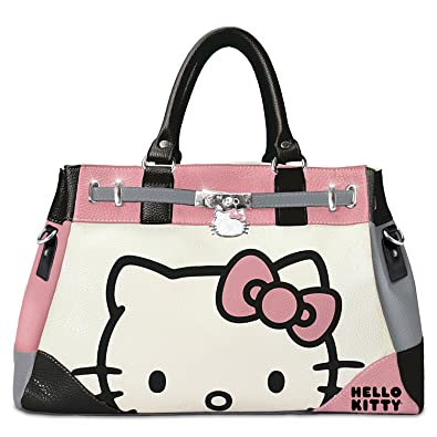 e95e756e77a8 Image Unavailable. Image not available for. Color  Hello Kitty Face Of  Fashion Handbag ...