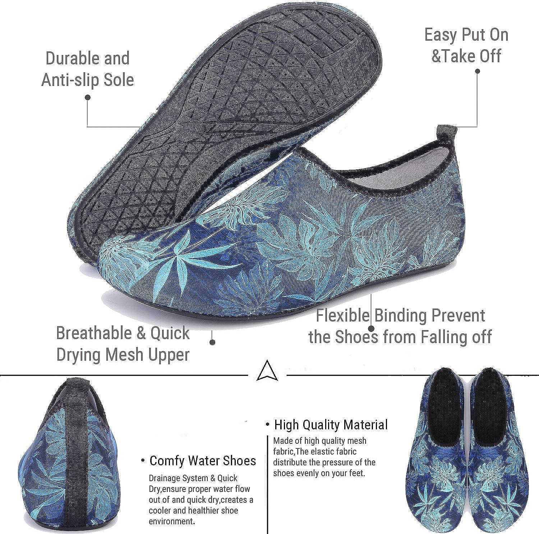 TcIFE Zapatos de Agua Hombre Mujer Zapatillas Ligeros de Secado R/ápido para Swim Beach Surf Yoga