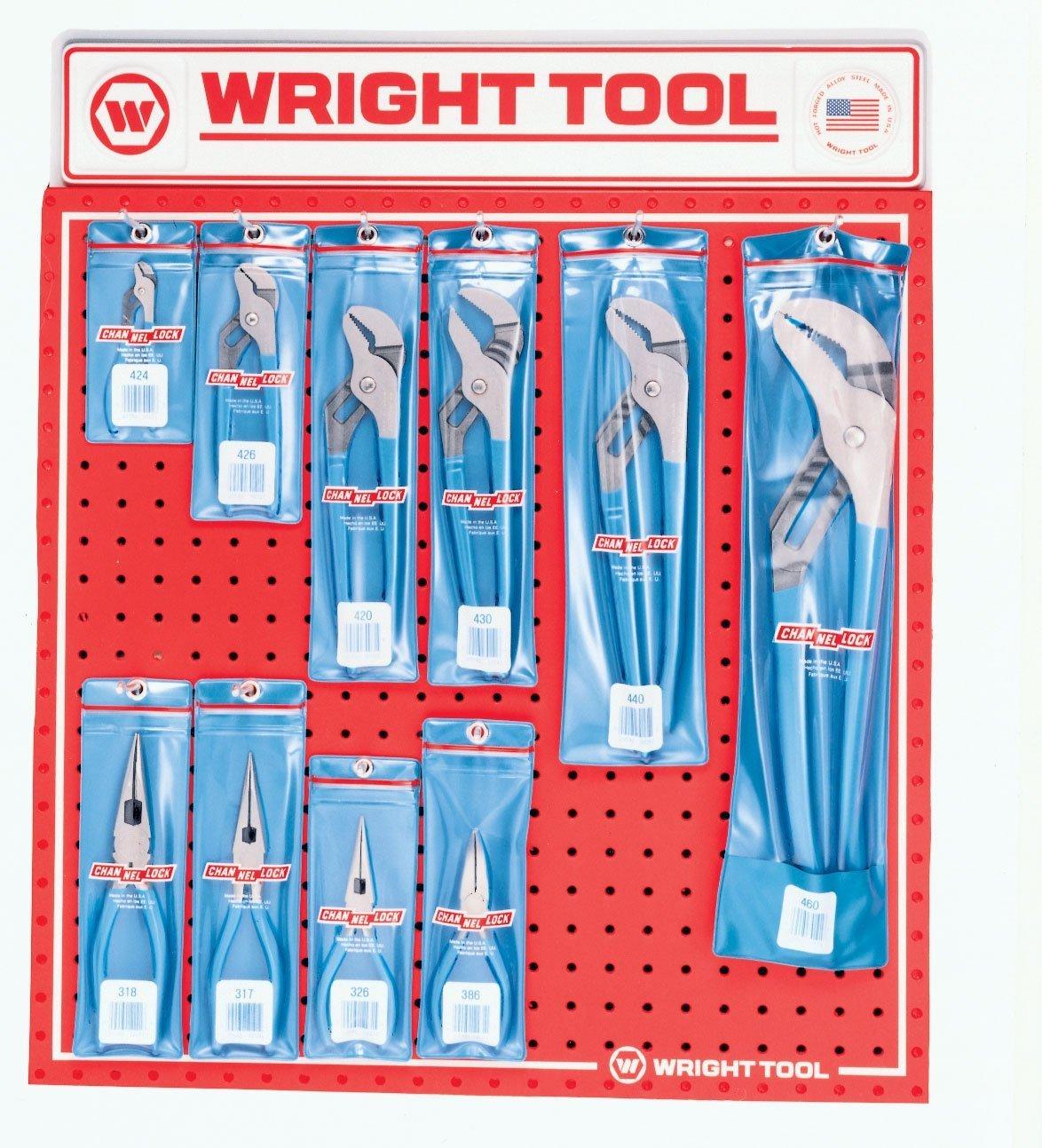 Wright Tool D969 Channel Lock Pliers, 10-Piece
