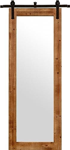 Amazon Brand Stone Beam Rectangular Vintage-Look Sliding Mirror