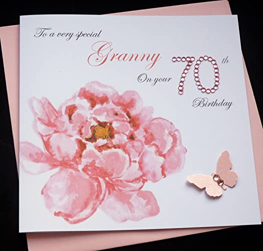 Handmade Personalised Flower Birthday Card 30th 40th 50th 60th 70th 80th 90th Amazoncouk