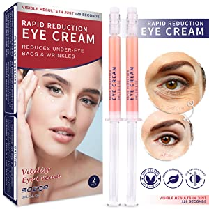 Rapid Reduction Eye Cream - Under-Eye Bags Treatment - Instant Results within 120 Seconds - Fights Wrinkles and Fine Lines - Reduces Appearance of Dark Circles