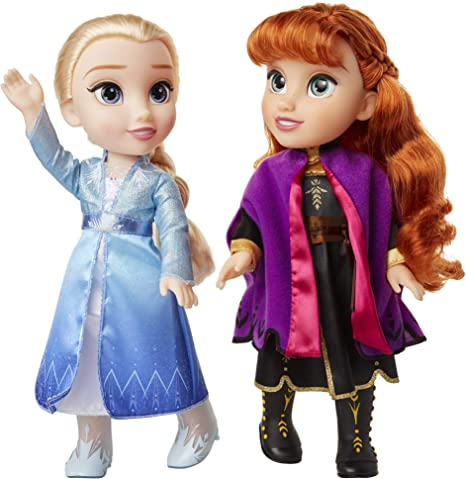 Disney Frozen II 2 Singing Sisters Anna /& Elsa Interactive Feature Dolls 2 pack