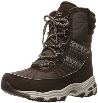 Women's D'Lites-Chateau-Lace up Winter BootChocolate Heathered7 M US