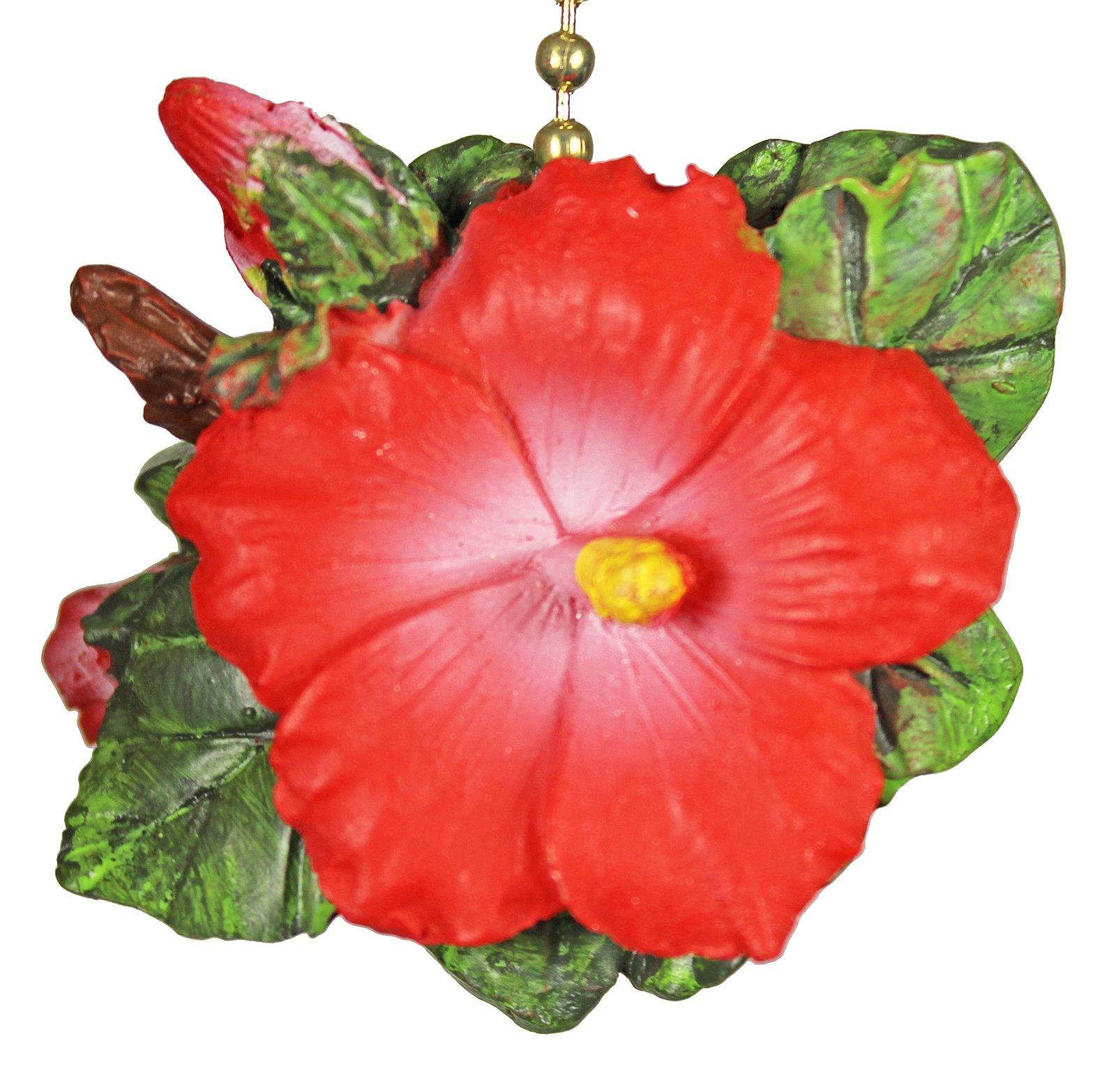 TiKi Tropical Hibiscus Flower DeCoR Fan Light Pull