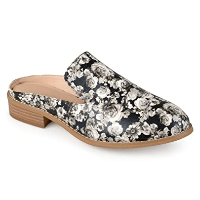 9ccff34f2e8c Journee Collection Womens Comfort-Sole Faux Leather Slide-on Mules Floral
