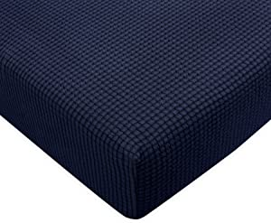 Subrtex Spandex Elastic Couch Stretch Durable Slipcover Furniture Protector Slip Cover for Settee Sofa Seat (Chair Cushion, Navy)