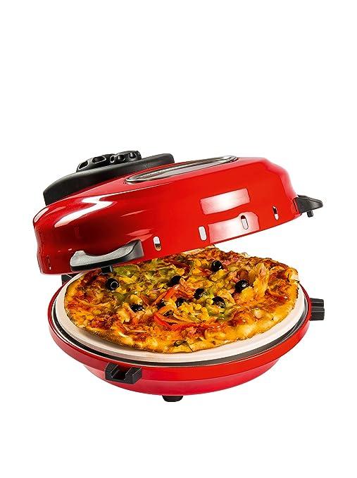 Domoclip DOC119 - Horno individual para pizza, 1200 W, color rojo ...