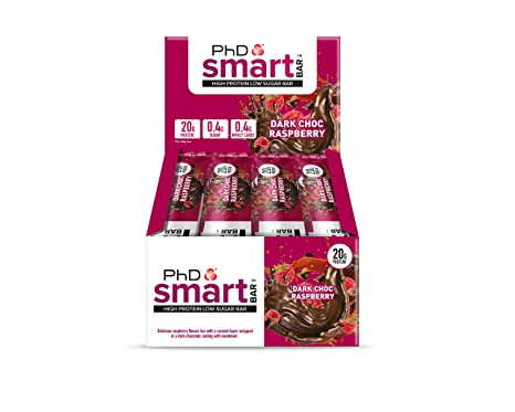 PhD Smart Bar Dark Choc Raspberry - 12 Barras