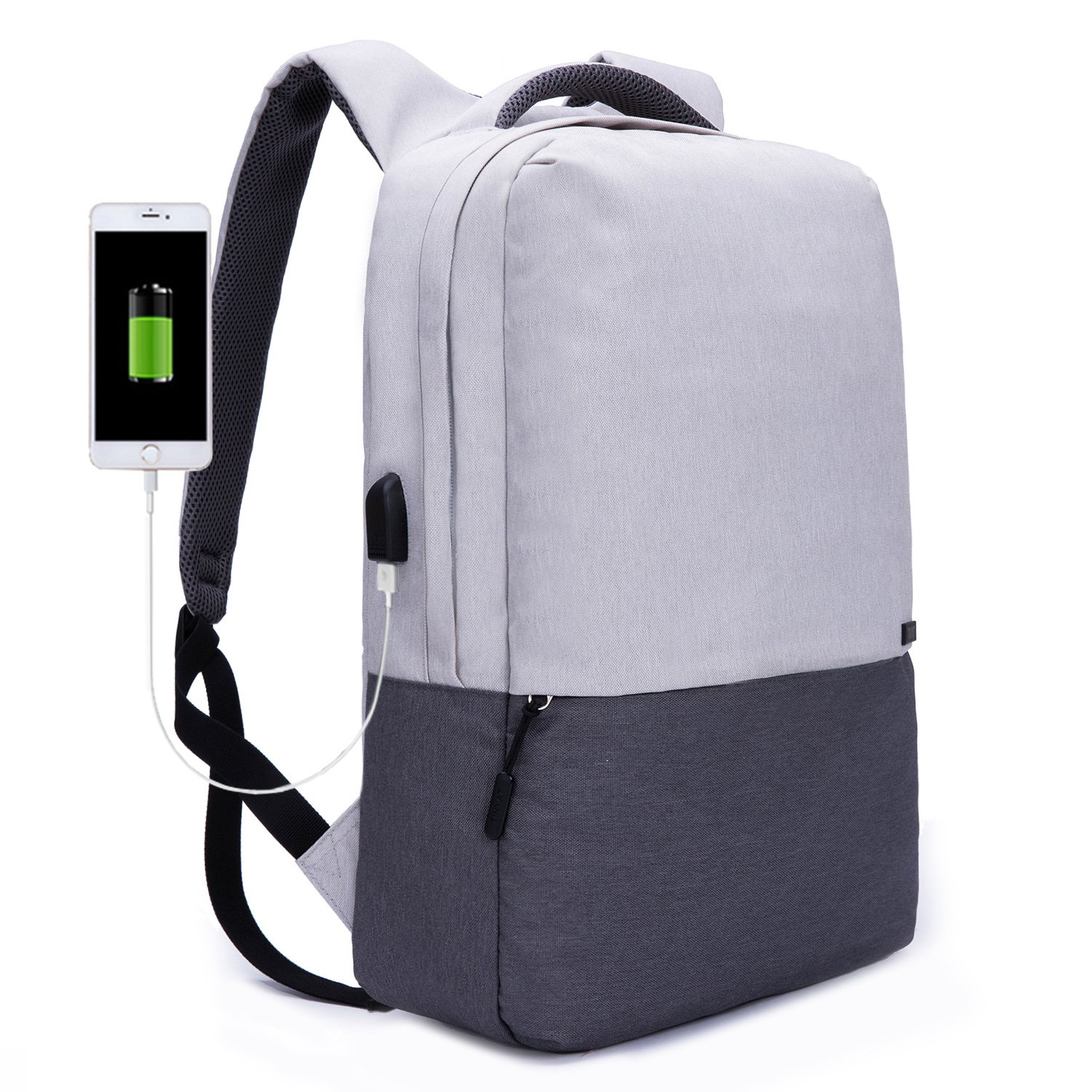 TINYAT Travel Backpack with USB Charging Port Durable Water Resistant Computer Bag Fits up to 15.6-Inch Laptop Bookbag T810