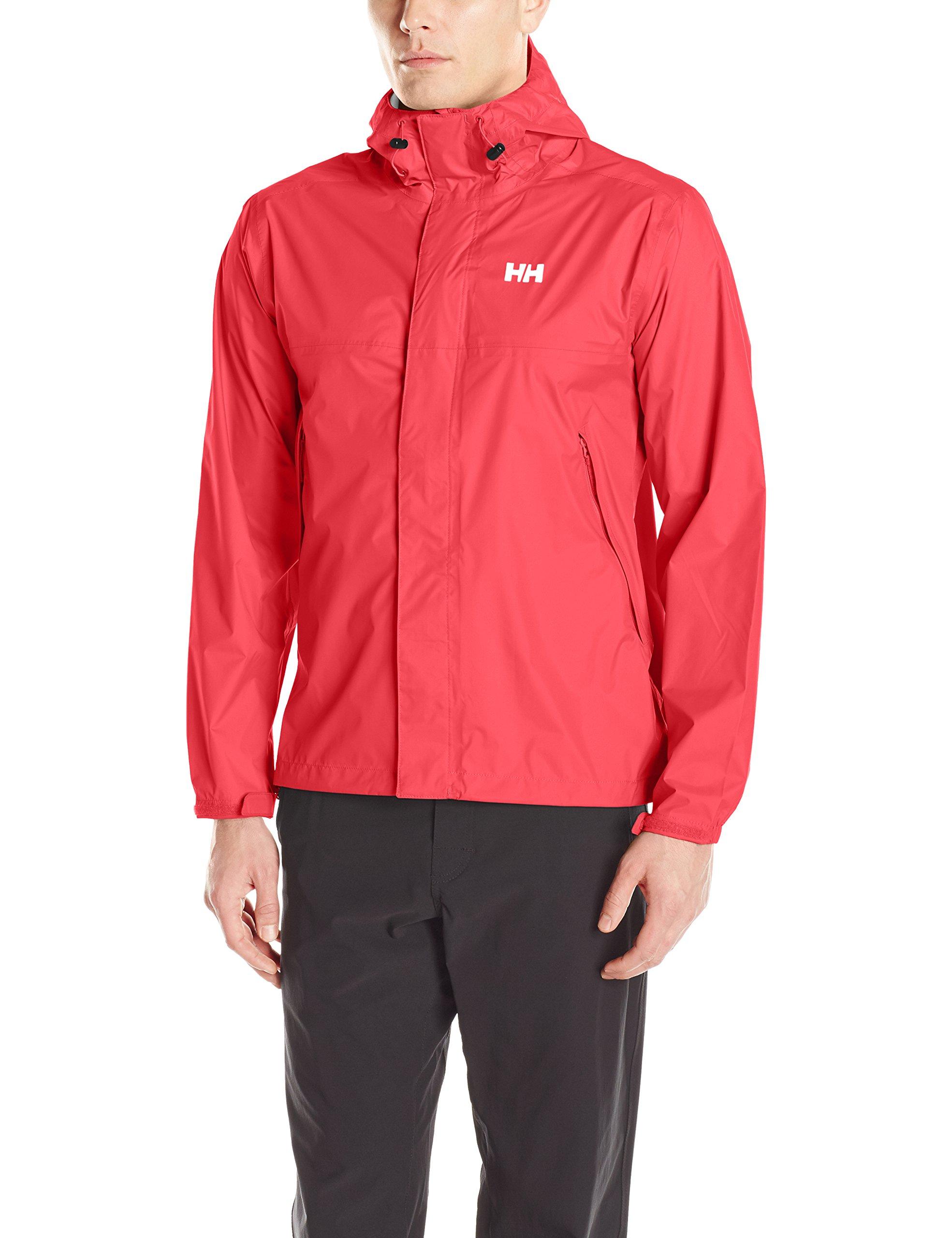 Helly Hansen Men's Loke Waterproof Windproof Breathable Adventure Rain Jacket, 162 Red, Medium