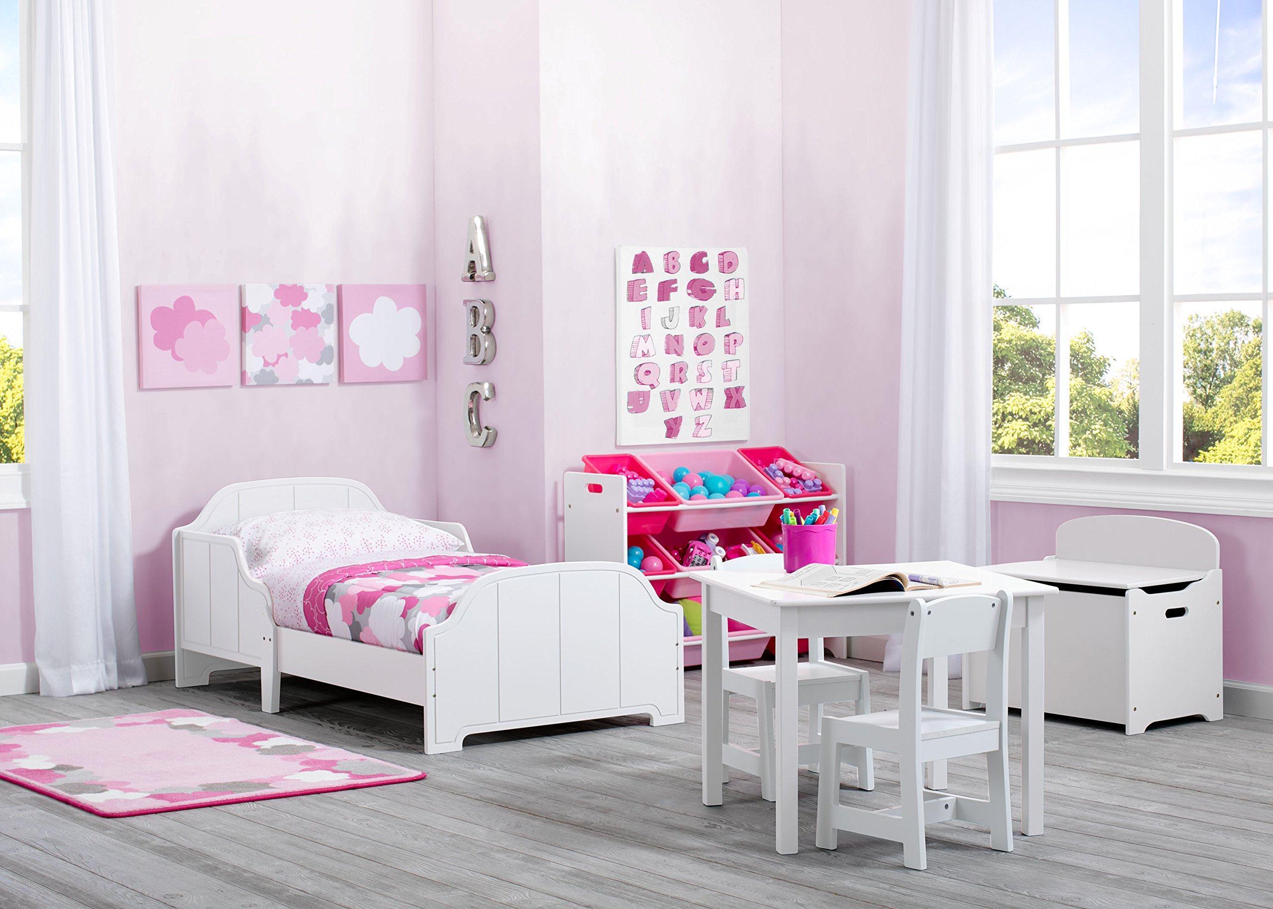 Delta Children MySize Kids Wood Table and Chair Set (2 Chairs Included), Bianca White by Delta Children (Image #5)