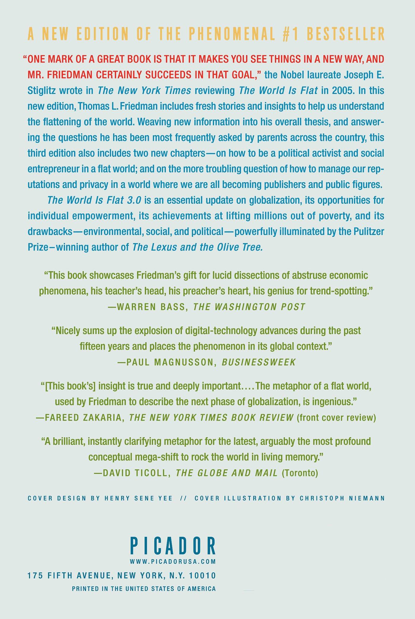 The World Is Flat 3.0: A Brief History of the Twenty-first Century: Thomas  L. Friedman: 9780312425074: Amazon.com: Books