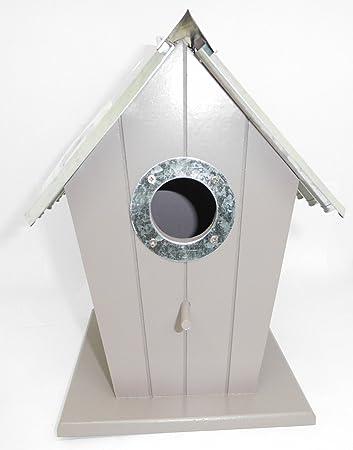 Nistkasten Vogel In Haus Form Aus Holz Mit Dach Aus Metall Garten