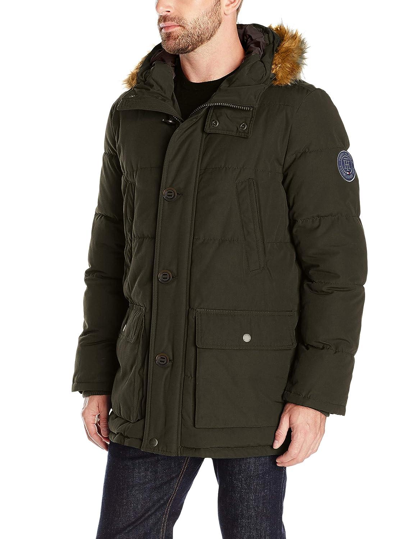 Tommy Hilfiger Mens Plus Winter Wind Resistant Parka Coat 155AP468