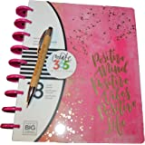 2 Pcs Bundle: me & my BIG ideas Create 365 The Happy Planner, Live Loud, 18 Month Planner, July 2017 - December 2018 Comes With Laser Engraved Pen Made from Natural Bamboo