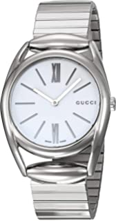 Gucci Horsebit Stainless Steel Ladies Watch YA140405