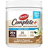 Boost Complete+ Vanilla Oats & Flaxseed Meal Replacement Powder, 477 grams