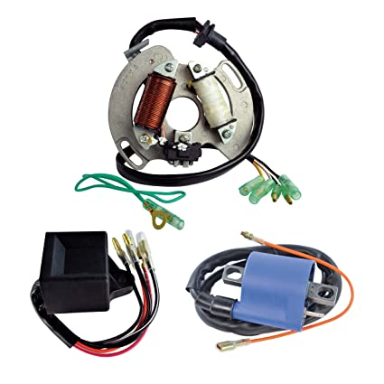 Kit High Output Stator + High Performance CDI Box + External Ignition Coil  For Yamaha YFS 200 Blaster 1988-2002 OEM Repl # 3JM-85560-00-00