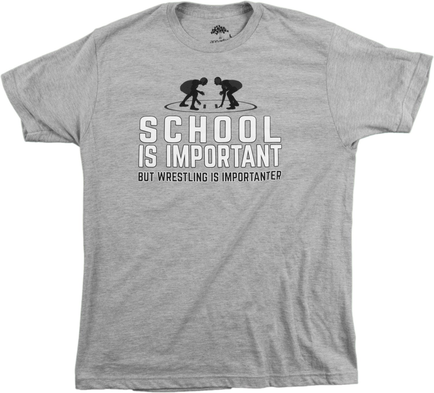 School is Important but Wrestling is Importanter | Funny Wrestler Unisex T-Shirt-(Adult,XS)