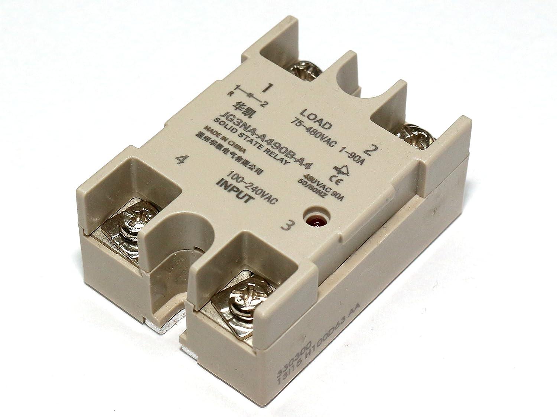 3-polig f/ür 75-480V AC 40A Rotek SSR - max Solid State Relais 230//400V Ansteuerung mit Wechselspannung