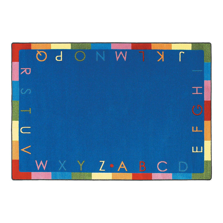 Rainbow Alphabet Classroom Rug - 7 ft. 8'' x 10 ft. 9'' Soft