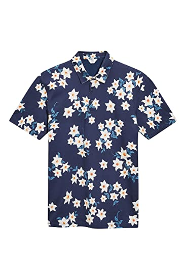 next Hombre Polo Estampado Flores Camiseta Top tee XXXXL: Amazon ...