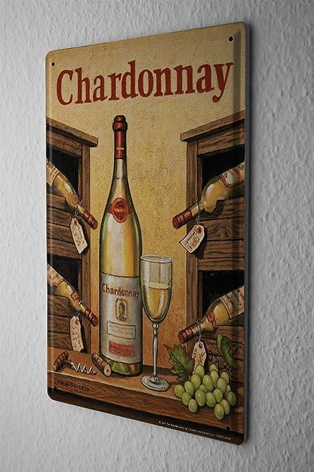 Cartel De Chapa De Metal Cartel Posters Copa de vino Uvas Vino ...