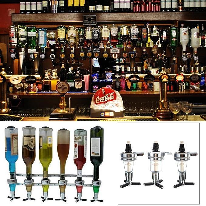 Bar Butler montado en la pared vino botella de Alcohol licor cóctel dispensador de cerveza Shot 25 ml: Amazon.es: Hogar