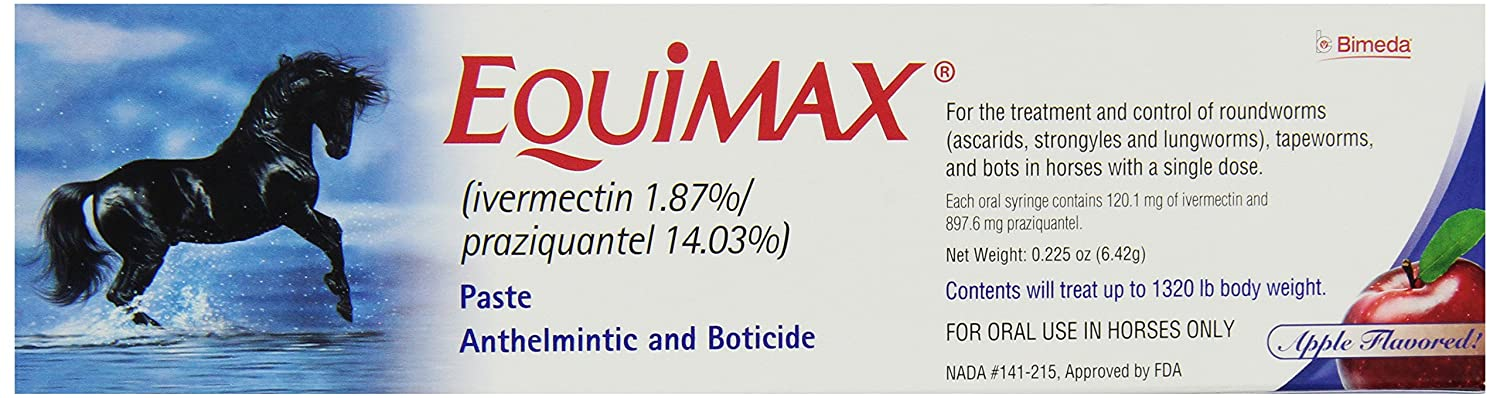 Equimax Paste Horse Dewormer Pack Of 12 Pfizer Horse 33921