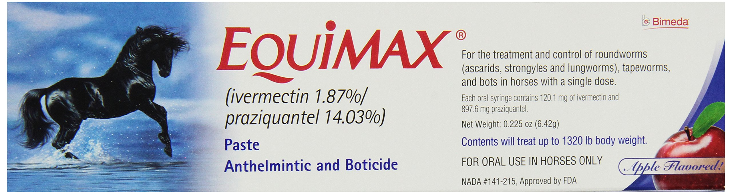 Equimax Dewormer Paste for Horses, 12 Doses by Bimeda (Image #1)