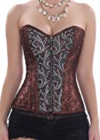 Ya Lida Women's Sexy Gothic style waist corset with G-string