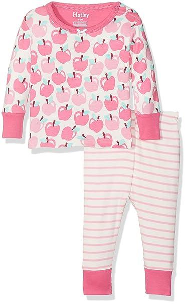 Hatley 100% Organic Cotton Mini Pyjama Sets, Conjuntos de Pijama para Bebés, Blanco