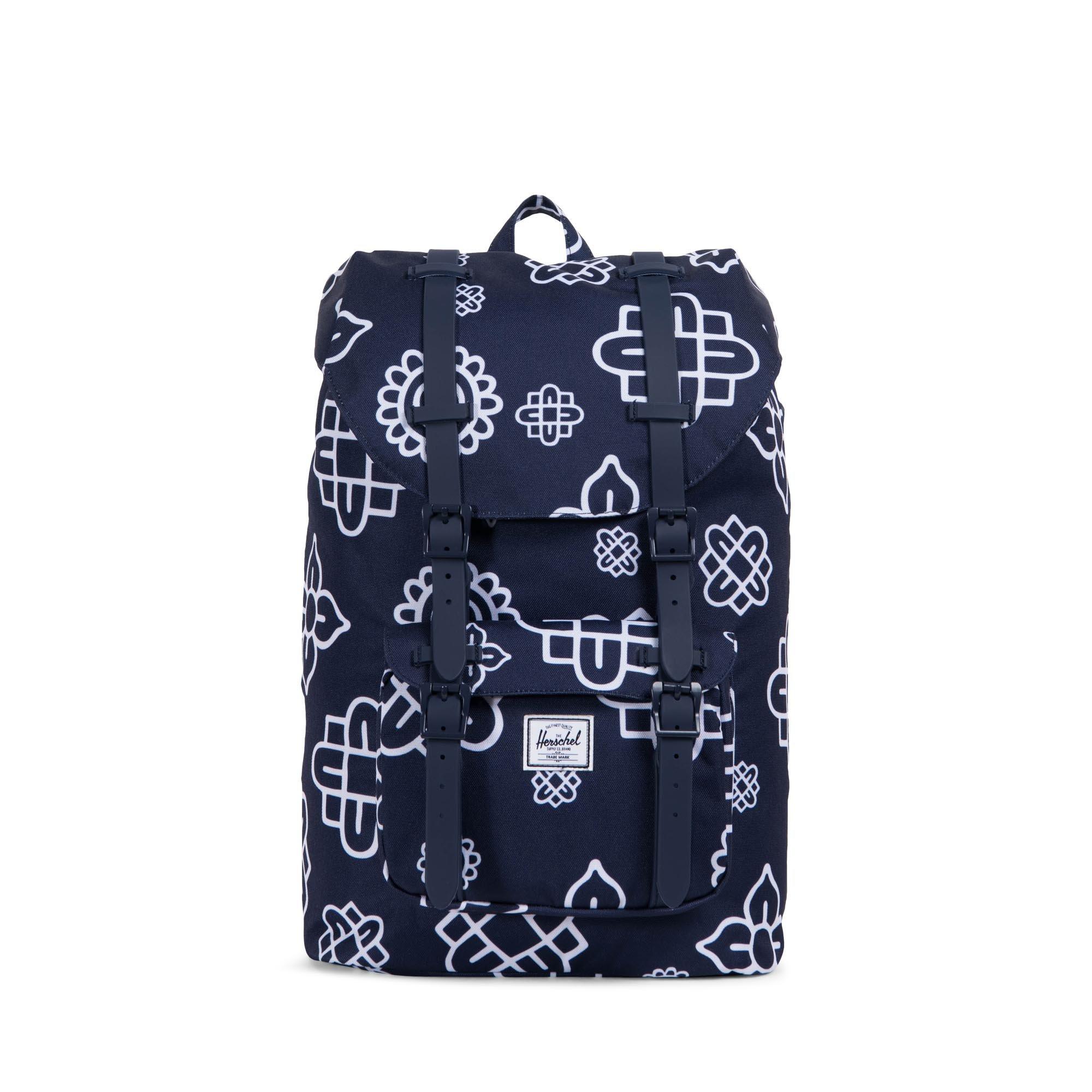 Herschel Supply Co. Little America Mid-Volume Backpack, Peacoat Paisley Print/Peacoat Rubber