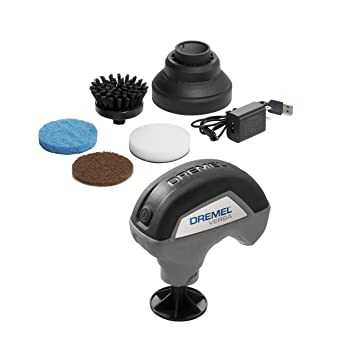 Dremel Versa Cleaning Tool- Grout Brush- Bathroom Shower Scrub- Kitchen and  Bathtub Cleaner- Power Scrubber for Tile, Pans, Stoves, Tubs, Sinks Auto,