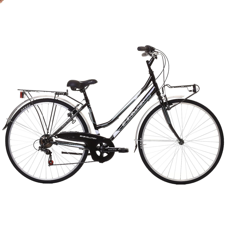 Bikevolution - Bicicleta urbana para mujer, ruedas de 28 pulgadas, 6 velocidades, mujer, 44 Bike evolution
