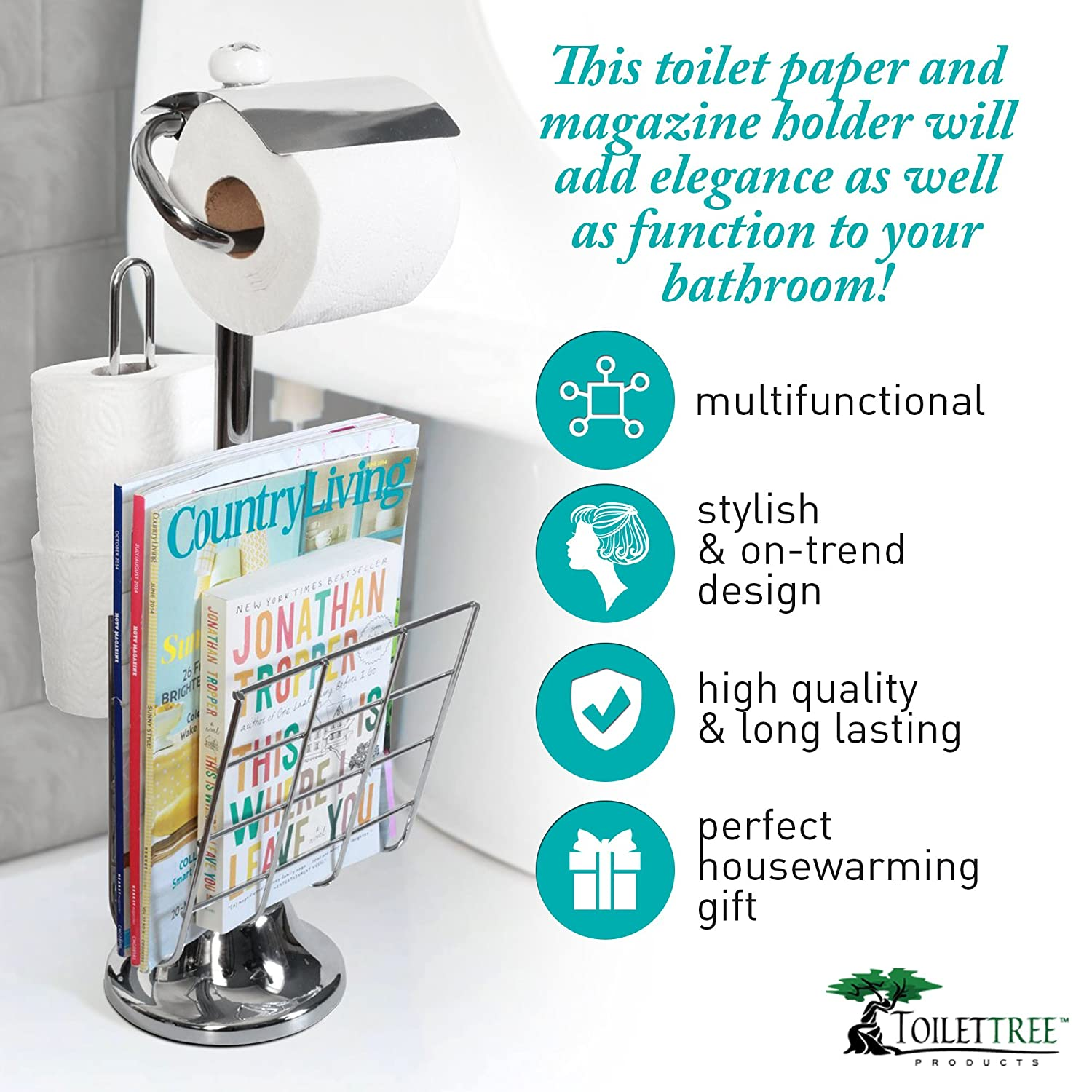 Amazon.com: ToiletTree Products Caddy Tissue Dispenser and Stand ...